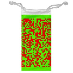 Colorful Qr Code Digital Computer Graphic Jewelry Bag