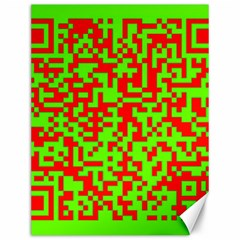 Colorful Qr Code Digital Computer Graphic Canvas 12  X 16