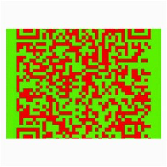 Colorful Qr Code Digital Computer Graphic Large Glasses Cloth (2 Side)