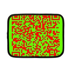 Colorful Qr Code Digital Computer Graphic Netbook Case (small)