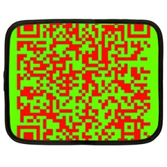 Colorful Qr Code Digital Computer Graphic Netbook Case (large)