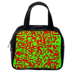 Colorful Qr Code Digital Computer Graphic Classic Handbags (one Side)