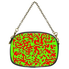 Colorful Qr Code Digital Computer Graphic Chain Purses (two Sides)