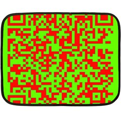 Colorful Qr Code Digital Computer Graphic Double Sided Fleece Blanket (mini)