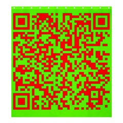 Colorful Qr Code Digital Computer Graphic Shower Curtain 66  X 72  (large)
