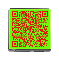 Colorful Qr Code Digital Computer Graphic Memory Card Reader (square)