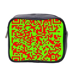 Colorful Qr Code Digital Computer Graphic Mini Toiletries Bag 2 Side