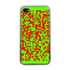 Colorful Qr Code Digital Computer Graphic Apple iPhone 4 Case (Clear)
