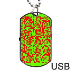 Colorful Qr Code Digital Computer Graphic Dog Tag USB Flash (Two Sides)