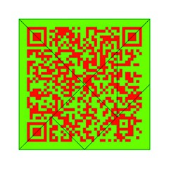 Colorful Qr Code Digital Computer Graphic Acrylic Tangram Puzzle (6  x 6 )