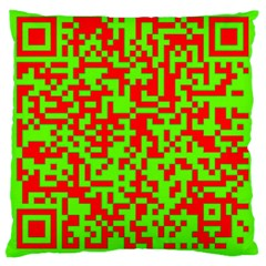 Colorful Qr Code Digital Computer Graphic Large Cushion Case (One Side)