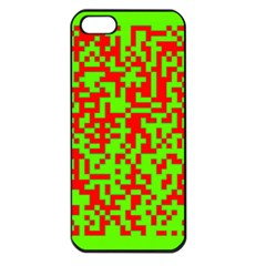 Colorful Qr Code Digital Computer Graphic Apple iPhone 5 Seamless Case (Black)