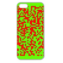 Colorful Qr Code Digital Computer Graphic Apple Seamless iPhone 5 Case (Clear)