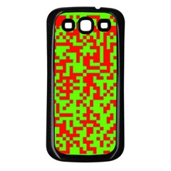 Colorful Qr Code Digital Computer Graphic Samsung Galaxy S3 Back Case (Black)