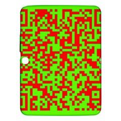 Colorful Qr Code Digital Computer Graphic Samsung Galaxy Tab 3 (10 1 ) P5200 Hardshell Case