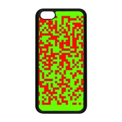 Colorful Qr Code Digital Computer Graphic Apple iPhone 5C Seamless Case (Black)