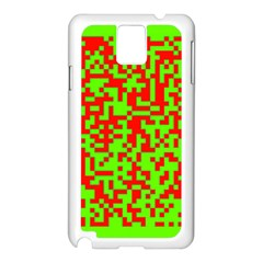 Colorful Qr Code Digital Computer Graphic Samsung Galaxy Note 3 N9005 Case (White)