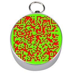 Colorful Qr Code Digital Computer Graphic Silver Compasses