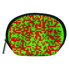 Colorful Qr Code Digital Computer Graphic Accessory Pouches (Medium)