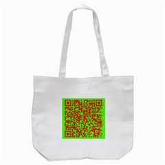 Colorful Qr Code Digital Computer Graphic Tote Bag (white)