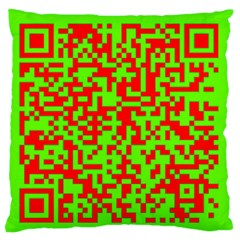 Colorful Qr Code Digital Computer Graphic Large Flano Cushion Case (One Side)