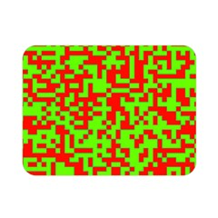 Colorful Qr Code Digital Computer Graphic Double Sided Flano Blanket (Mini)