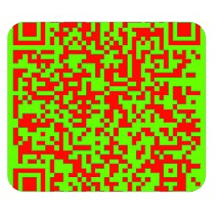 Colorful Qr Code Digital Computer Graphic Double Sided Flano Blanket (Small)
