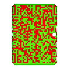 Colorful Qr Code Digital Computer Graphic Samsung Galaxy Tab 4 (10.1 ) Hardshell Case