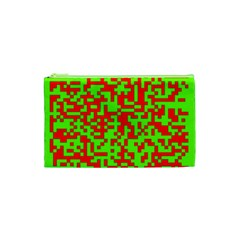 Colorful Qr Code Digital Computer Graphic Cosmetic Bag (XS)