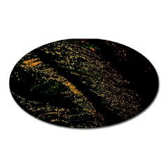 Abstract Background Oval Magnet
