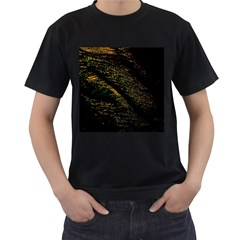 Abstract Background Men s T Shirt (black) (two Sided)