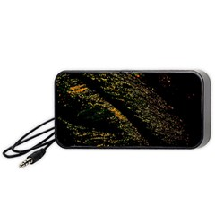 Abstract Background Portable Speaker (black)