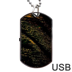 Abstract Background Dog Tag USB Flash (One Side)