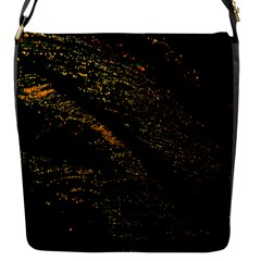 Abstract Background Flap Messenger Bag (S)