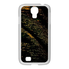 Abstract Background Samsung GALAXY S4 I9500/ I9505 Case (White)