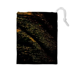Abstract Background Drawstring Pouches (Large)