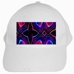 Rainbow Abstract Background Pattern White Cap