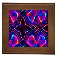 Rainbow Abstract Background Pattern Framed Tiles