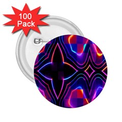 Rainbow Abstract Background Pattern 2.25  Buttons (100 pack)