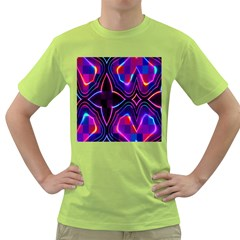 Rainbow Abstract Background Pattern Green T Shirt