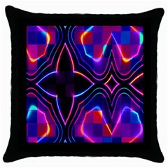 Rainbow Abstract Background Pattern Throw Pillow Case (black)