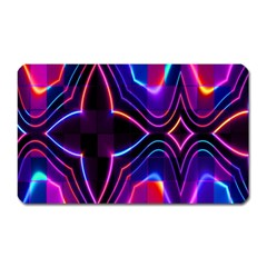 Rainbow Abstract Background Pattern Magnet (Rectangular)