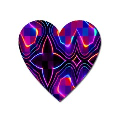 Rainbow Abstract Background Pattern Heart Magnet