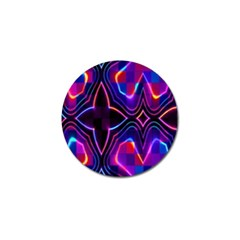 Rainbow Abstract Background Pattern Golf Ball Marker
