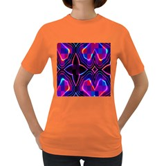Rainbow Abstract Background Pattern Women s Dark T Shirt