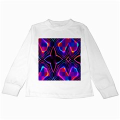 Rainbow Abstract Background Pattern Kids Long Sleeve T Shirts