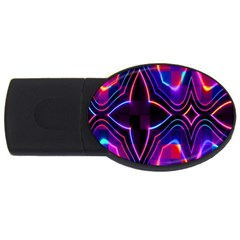 Rainbow Abstract Background Pattern Usb Flash Drive Oval (4 Gb)