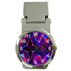 Rainbow Abstract Background Pattern Money Clip Watches