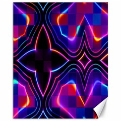Rainbow Abstract Background Pattern Canvas 11  X 14