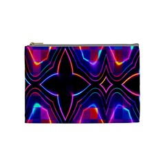 Rainbow Abstract Background Pattern Cosmetic Bag (medium)